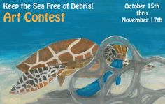 "Calling all student artists! Ready, set, draw! The K - 8th grade ""Keep the Sea Free of Debris"" art contest is now open!   This year, show the NOAA Marine Debris Program how marine debris impacts the oceans and the Great Lake and what you are doing to help prevent marine debris.  All entries must be submitted by November 17th. Get the complete contest rules."