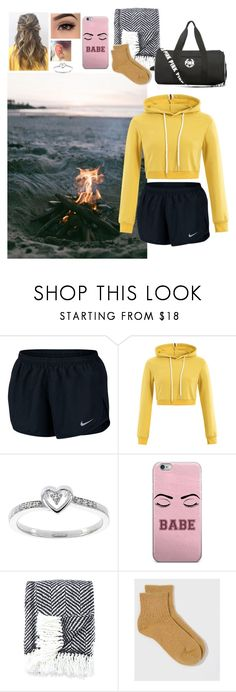 """""""bonfire w/ bae and friends"""" by lizzie-tejeda ❤ liked on Polyvore featuring NIKE, Modern Bride, Kate Spade and Hansel from Basel"""