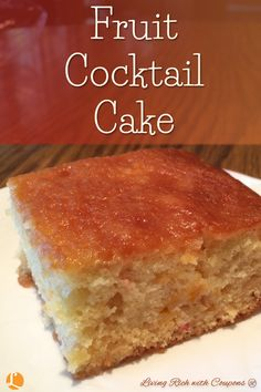 Cake mix recipe with fruit cocktail