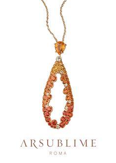 Autunno collection #autumn #collection #pendant #pendente #finejewellery #precious #stylish #sapphires #roma #gold #18kt #madeinitaly #gioielli #italiani #fashion