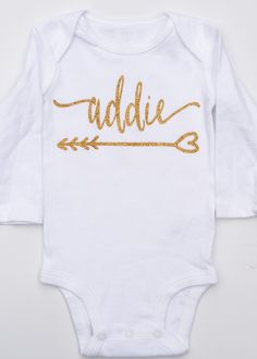 http://www.fashionnewswebsites.com/category/onesie/ Personalized Gold Glitter Onesie