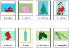 Kerstmis woordkaarten