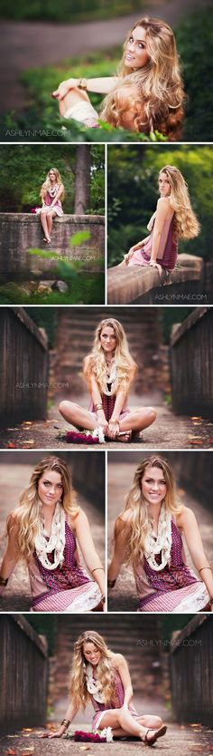 Amazing outfit, love the color of the dress with the accessories | High School Senior Shoot                                                                                                                                                      More