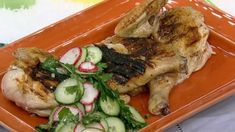 Michael Symon's Grilled Chicken with Salsa Verde and Radish  Salad