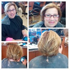 Before and after mini highlights and color retouch
