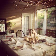My Vintage Prom Dinner Setting.