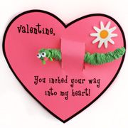 Inchworm Printable Valentine's Day Card Craft for Kids from  www.daniellesplace.com