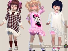Secret Pink Type F_top for toddler  [#ts4_toddler_top]  [#ts4_bacc_elf]