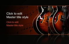 Free music Guitar PPT template for presentations with attractive guitar illustration helps write down what you learnt in music class and share tips with others Musical Instruments Drawing, Powerpoint Template Free, Templates Free, Music Backgrounds, Blues Music, Music Class, Music Guitar, School Projects, Presentation Templates