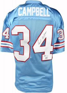 Earl Campbell Autographed Custom Jersey - JSA  SportsMemorabilia   HoustonOilers. Shelby Pool York · Houston Oilers 214988f34