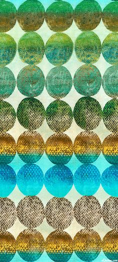 eQuilter Alexandria - Textured Spheres - Sky Bluel/Multi - DIGITAL PRINT green gold aqua teal turquoise