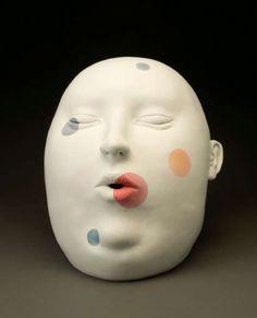 Tanya Batura, b. 1956  American  Sleeper, circa 2003  12 x 7 1/2 dia.
