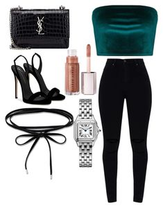 """I'm Back"" by reginaj1021j on Polyvore featuring Yves Saint Laurent and Giuseppe Zanotti"