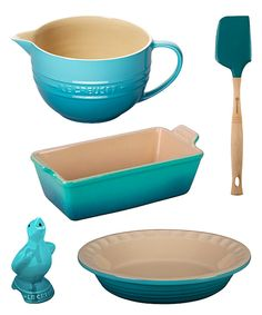 Look at this Le Creuset Caribbean Spring Baking Set on #zulily today!
