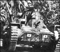 a Type 95 Ha-Go light tank in the jungles of malaya