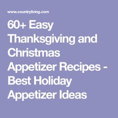 60+ Easy Thanksgiving and Christmas Appetizer Recipes - Best Holiday Appetizer Ideas