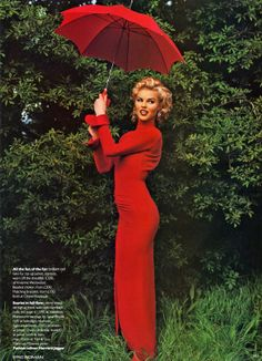 Hot Shots by Eric Boman Vogue UK 1992 Hot Shots Photographer: Eric Boman Model: Eva Herzigova