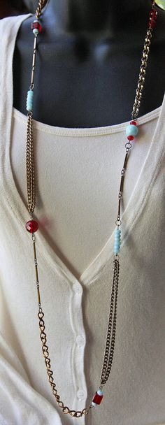put it all together and what do you get - great way to reuse scrap chain! Maker indicated one of a kind piece and reclaimed with imperfections.  39 bucks