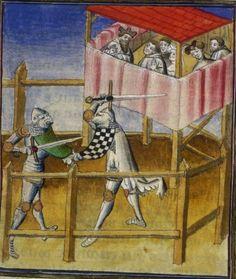 A rare look inside the gallery -BNF Français 101 - fol. 252 Paris, France (1400 - 1425)