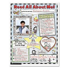 """Instant Personal Poster Sets, Read All About Me, 17"""" X 22"""", 30/pack"""