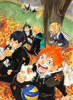 "simplyfx: "" Precious official art from Haikyuu!! shousetsu-ban novel volume 7 """