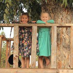 Nuki'le Girls Twirly Dress, Owl Print on Black Background #spin #dress #twirl #modest #littlegirldress #kidsclothes #littlegirlsdresses #playdress #party #winter #lycra