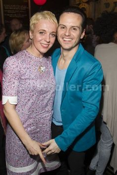 Amanda Abbington and Andrew Scott