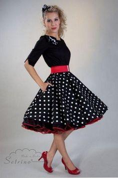 50 S Dresses For Teens 50s Black Polka Dot Skirt Deluxe