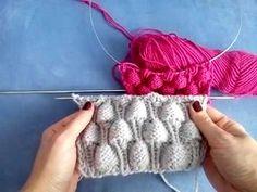 Malinki pattern (on a cardigan Knitting Basics, Knitting Videos, Loom Knitting, Knitting Stitches, Free Knitting, Knitting Projects, Crochet Hooded Scarf, Knit Crochet, Crochet Hats