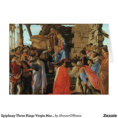Epiphany Three Kings Virgin Mary Baby Jesus Joseph Card