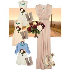 A fashion look from January 2015 featuring Jenny Packham gowns, Lela Rose dresses and Betsey Johnson pumps. Browse and shop related looks.