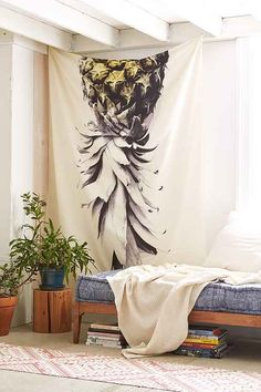 Convenience of Tapestry Urban Outfitters : Pineapple Tapestry Urban Outfitters. Dorm Tapestry, Hanging Tapestry, Hanging Wall Art, Tapestries, Wall Hangings, Tapestry Headboard, Hanging Plants, Pineapple Room, Dorms Decor