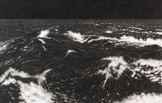 Raquel Maulwurf Black sea VII, charcoal, pastel on partially scratched museum board,152 x 236 cm, 2013  Collection Museum Voorlinden Wassenaar