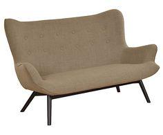Zweieinhalbsitzer, Sofa Twist, hellbraun, B 158 cm