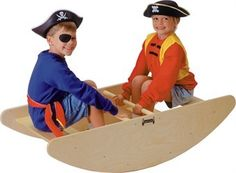 Little Pirates will love this solid wooden boat for their adventures. You can even custom paint it in your own home! http://www.sensoryedge.com/strobo.html