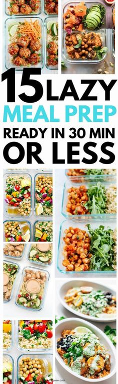 15 Delicious Dinner Recipes to Meal Prep for the Week #mealprep #dinnerrecipes #easymeals