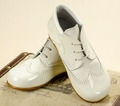 Pretty Originals Style UP257A Boys Ivory Leather Shoes