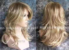 LARGE FIT..Long Choppy Layers Nirvana Tarah Wig U Choose Colour