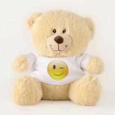 Winking Face Emoji Teddy Bear - diy cyo customize create your own #personalize