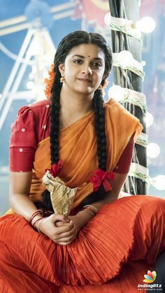 Mana Keerthy Suresh: Keerthy Suresh in Half Saree with Cute and Awesome Lovely Chubby Cheeks Expressions Indian Actress Gallery, Tamil Actress Photos, South Indian Actress, Most Beautiful Indian Actress, Beautiful Actresses, Indian Bridal Fashion, Images Wallpaper, Indian Celebrities, Celebrity Look
