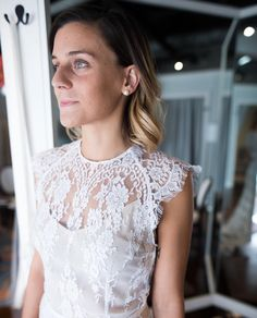 Love this shot captured by @philippalma.photos of the Ivy gown! Lace goals…
