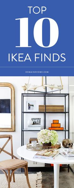 Give your home a refresh with these 16 IKEA hacks. Take on a DIY project and turn IKEA shelving and cabinets into chic décor. Ikea Bookcase, Ikea Shelves, Black Bookshelf, Black Shelves, Office Deco, Ikea Vittsjo, Home Design, Interior Design, Blog Design
