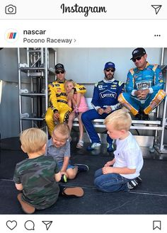"""""""Not many people know this, but this is preferred method of seating. Nascar Sprint Cup, Nascar Racing, Jeff Gordon Nascar, Clint Bowyer, Matt Kenseth, Kyle Larson, Kevin Harvick, Dale Earnhardt Jr, Celebrity Houses"""