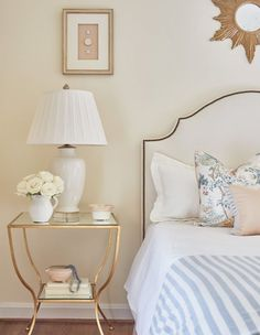 A color scheme of pastels and neutrals creates a feminine but not overly girly b. - A color scheme of pastels and neutrals creates a feminine but not overly girly bedroom - Bedroom Decor For Couples, Home Decor Bedroom, Living Room Decor, 1920s Bedroom, Bedroom Girls, Budget Bedroom, Bedroom Modern, Master Bedroom, Bedroom Wall