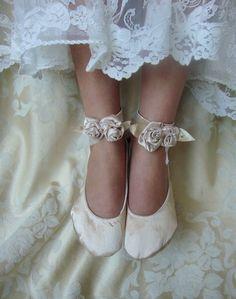 Ivory Bridal Flat  by Hopefully Romantic on Etsy