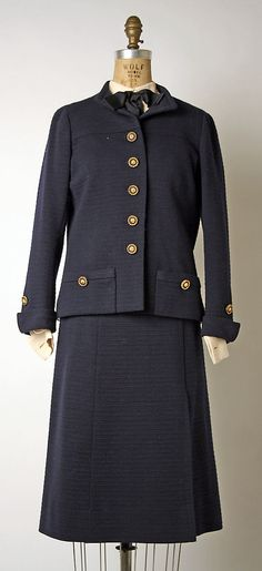 Chanel suit, spring/summer 1970 or fall/winter 1971–72