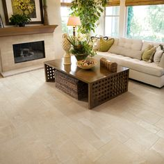 Eternal Limestones Bianco Porcelain- Arizona Tile- Plank cut install