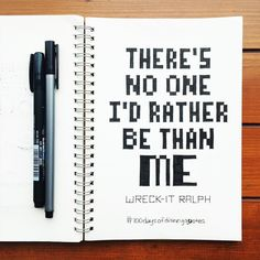 Wreck-It-Ralph hand lettered quote | Disney Quotes | © Shannon McNab