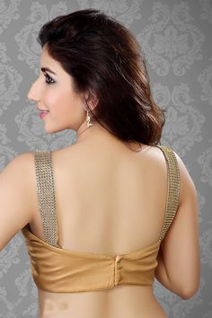 Shimmer with Lace Work - Golden Blouse Designs, Blouse Designs Silk, Most Beautiful Bollywood Actress, Saree Models, Indian Bridal Fashion, Stylish Girl Images, Beautiful Girl Indian, Beauty Full Girl, Indian Beauty Saree