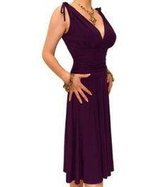 Blue Banana Purple Grecian Slinky Dress,£39.99
